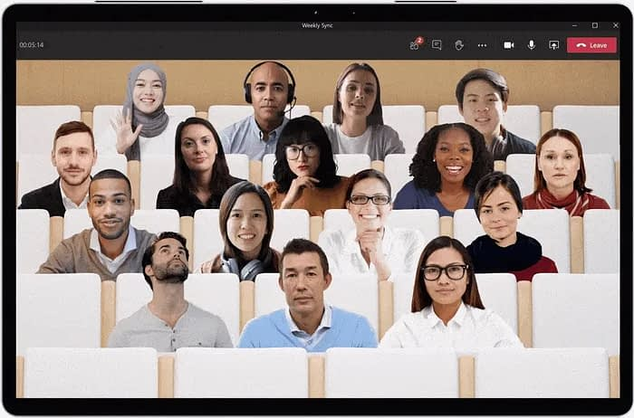 Microsoft Teams new feature  together mode